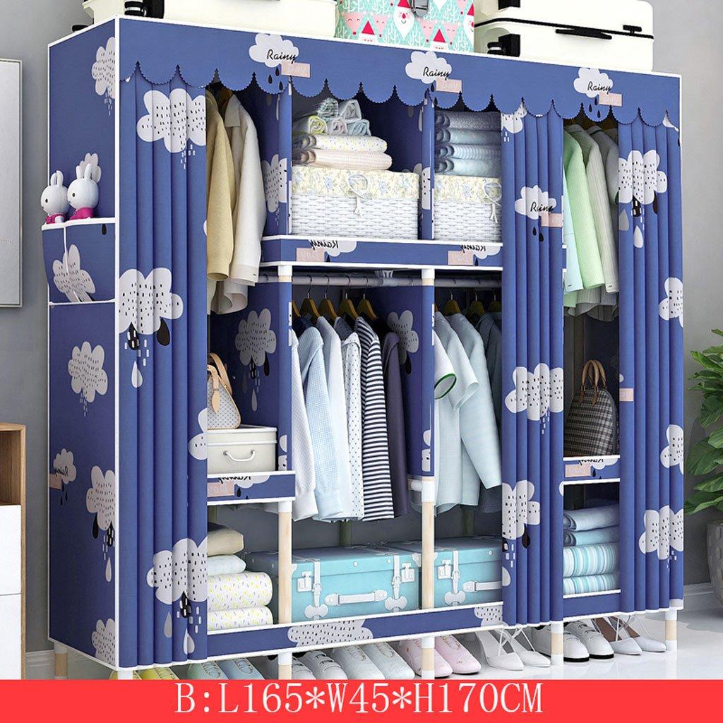 KKCD - ースには収納ケー ワードローブの携帯用衣服のクローゼットの食器棚の寝室の家具の貯蔵165 * 45 * 170 CM クローゼッ (Color : B) B07SXJK6G9 B