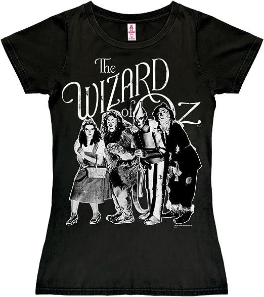 Logoshirt Camiseta para Mujer Dorothy y Amigos - El Mago de Oz - Wizard of Oz - Dorothy and Friends - de Color - Negro - Diseño Original con Licencia: Amazon.es: Ropa y accesorios