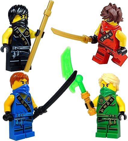 Amazon.com: LEGO NinjagoTM: Juego de 4 minifiguras de Ninja ...