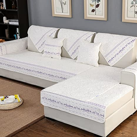 SAFAJINHH Funda de sofá,Cuatro Estaciones Algodón Sofá Anti ...