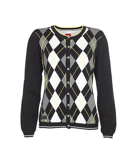 Xfore Golf suéter Chaqueta de Punto Jersey Rombos Chelmsford Cuello Redondo  algodón para Mujer bb89316b1d1f
