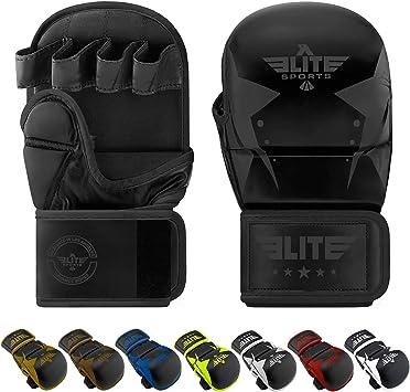 Medium Fighting Sports MMA Grappling Training Gloves Black//White