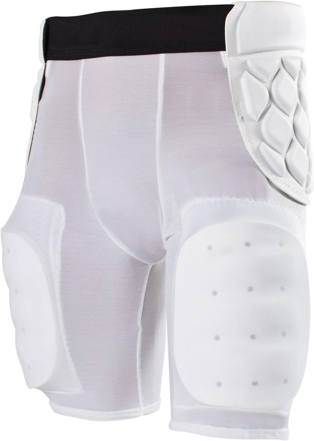 Cramerクラシック5-pad Footballガードルヒップポインタ付きデュアルレイヤー保護、Tailboneと太ももパッド、吸湿発散性ファブリック、デュアルレイヤFoam for Extra保護、各種サイズ ホワイト 3X-Large