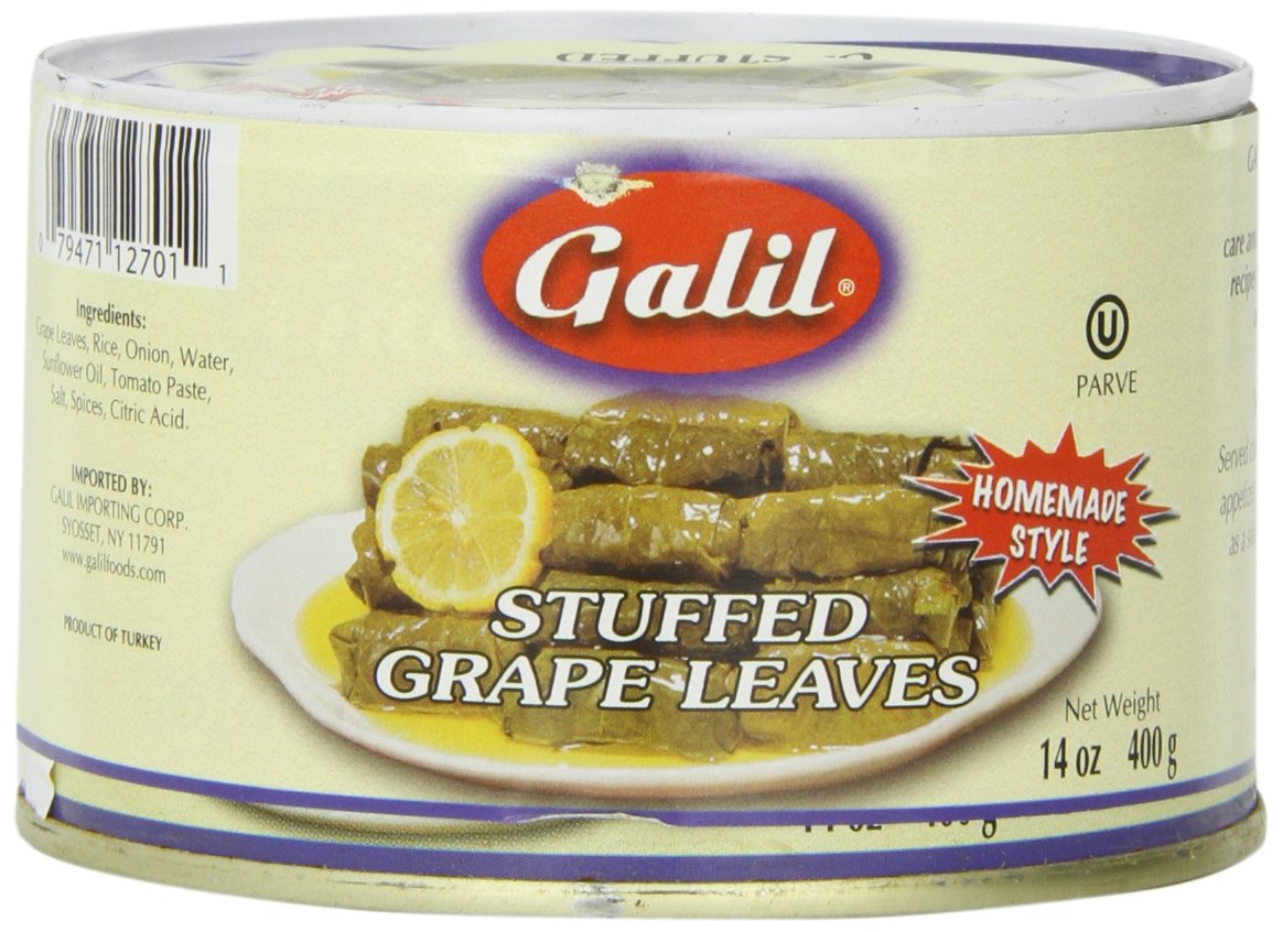 Galil Stuffed Grape Leaves Non-GMO, 14-Ounce Cans (Pack of 12) by Galil (Image #5)