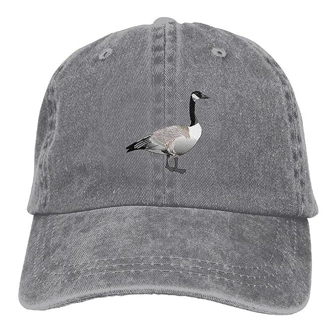 827a3893d5e3c Unisex Baseball Cap Denim Hat Canadian Goose Adjustable Snapback Solid Hat