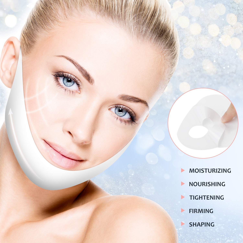 V Line Mask, V Shape Face Lifting Chin Up Patch, Neck and Chin Reducer Intense Lifting Mask(5Pcs)