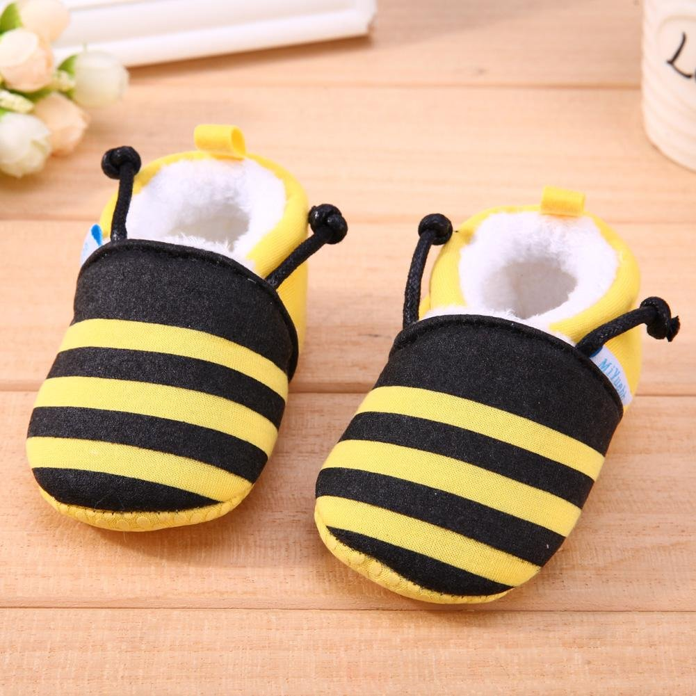 Silverone Cartoon Bee Newborn Baby Infant Shoes Winter Soft Cotton First Walker Shoes