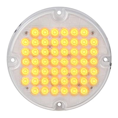 "Grand General 82351 Amber/Clear Sealed Light (7"" Smart Dynamic 52 LED Bus): Automotive"