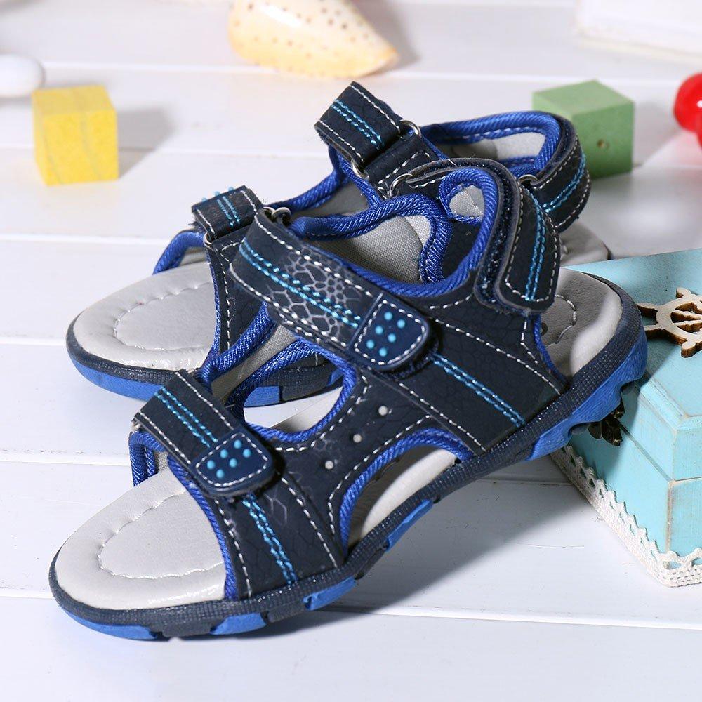 QinMM Sommer Kinder Kinder Schuhe Jungen M/ädchen Strand Laufschuhe Sport Sandalen Schuhe Turnschuhe Grau Blau Gr/ün 19-24 23, Blau