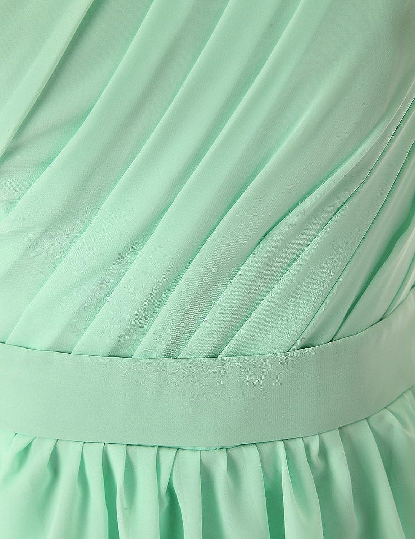 Olidress Women's Simple Chiffon One Shoulder Short Bridesmaid Dress