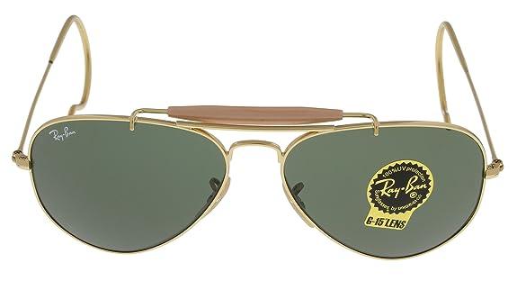 3c088066e Amazon.com: Ray Ban Sunglasses Outdoorsman Aviator Unisex Browbar Enhanced  RB3030 L0216: Shoes