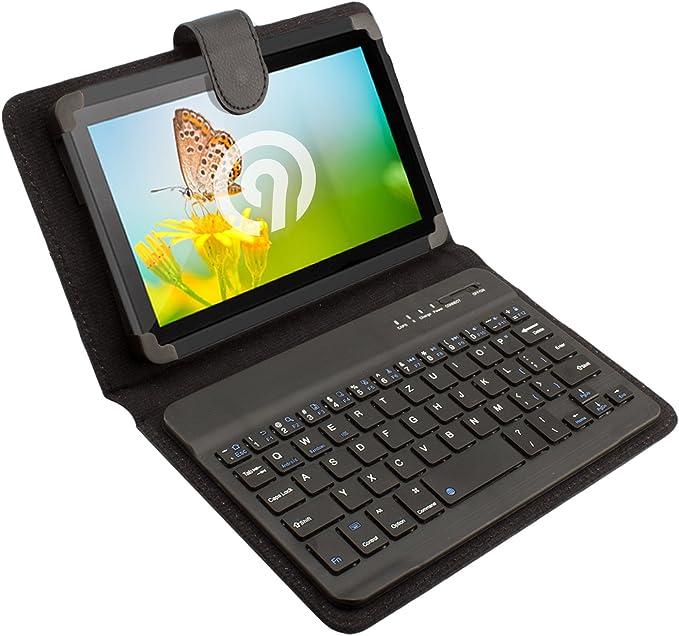 NINETEC Teclado Caja del Filtro de Tablet PC de 7 Pulgadas Carcasa Carcasas Bluetooth
