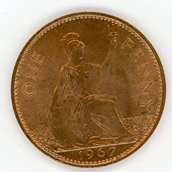 Amazon com: 1967 UK One Full Red Penny Choice Uncirculated