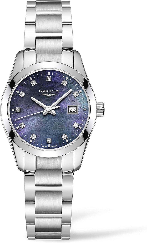 Longines Conquest L22864886 - Reloj de Pulsera para Mujer, diseño clásico, Color Negro