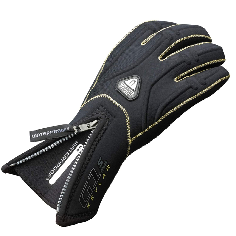 Waterproof G1 5mm Aramid Kevlar 5-Finger Gloves WP-G1K-5-M Medium