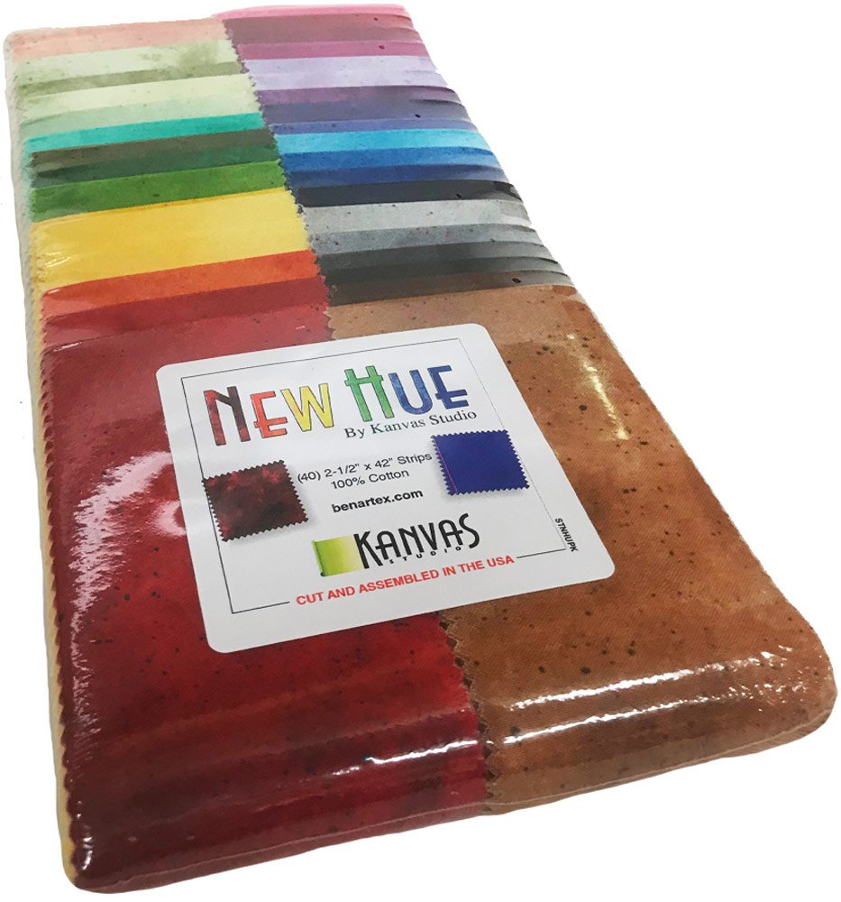 Kanvas Studio Benartex Basics New Hue Strip-Pies 40 2.5-inch Strips Jelly Roll Benartex by Benartex