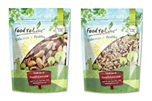 Raw Nuts Bundle - Raw Brazil Nuts, 8 Ounces and Raw Walnuts, 8 Ounces - Kosher, Raw, Vegan, No Shell, Unsalted