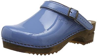 Sanita Damen Freya Open Clogs, Blau (Blue), 41 EU