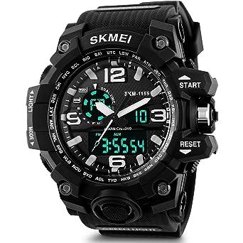 SKMEI Analog-Digital Black Dial Mens Watch-AD1155 (BK White)