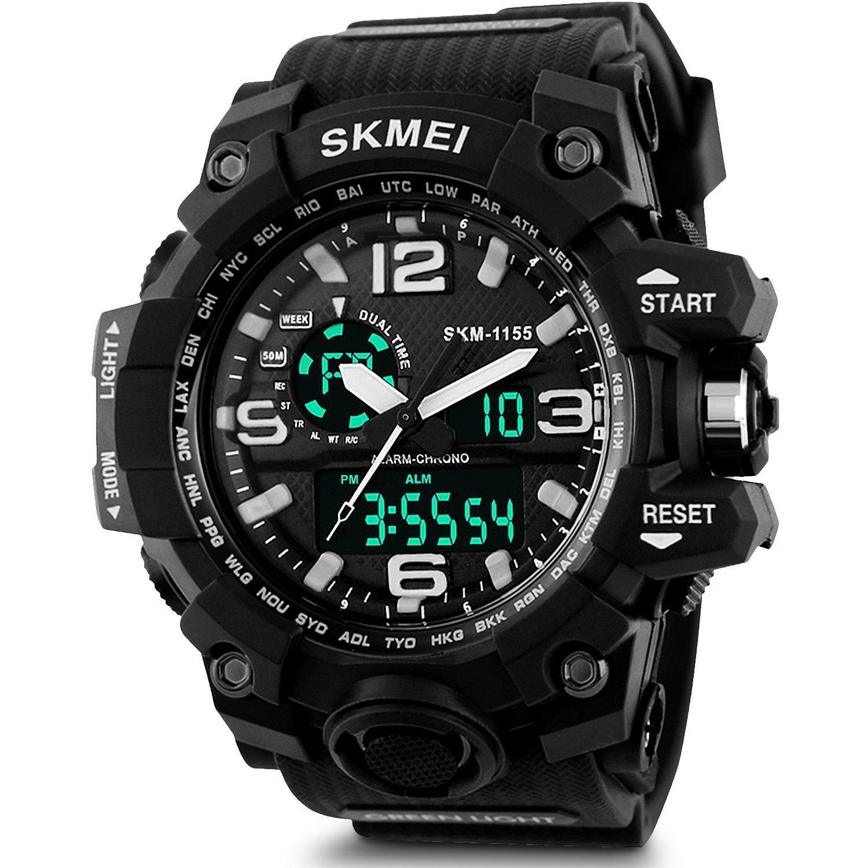 SKMEI Analog-Digital Black Dial Men's Watch - AD1155 (Black) product image