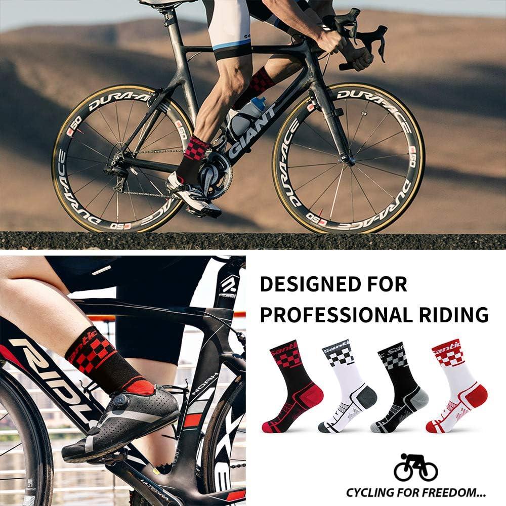 SANTIC Cycling Socks for Men and Women Unisex Breathable Sport Socks