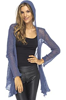 a98e8ebe2c3 Back From Bali Womens Long Lightweight Sheer Cardigan Hoodie Open Front  Hooded Knit Sweater Long Sleeve