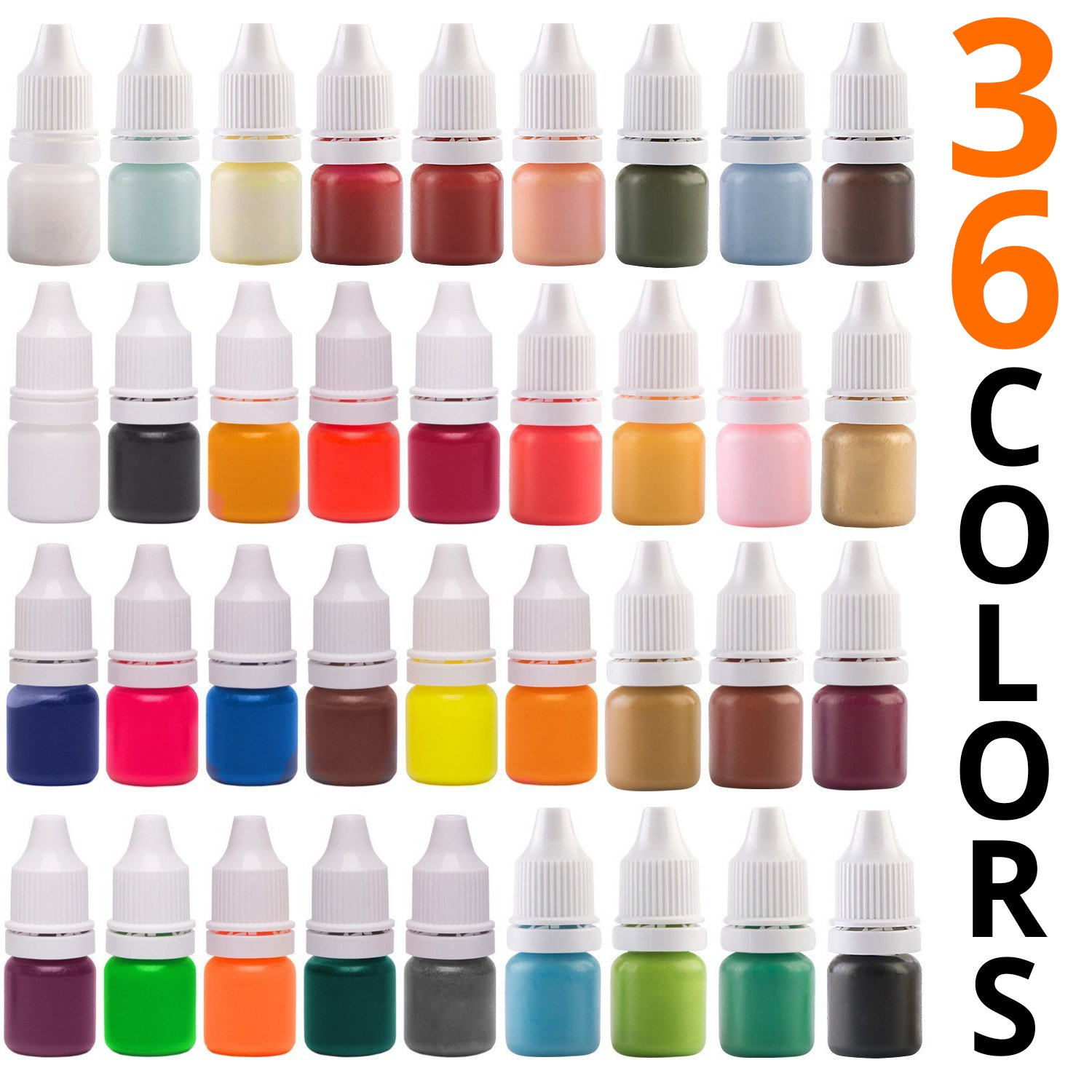 Soap Dye for Soap Making supplies - 36 Colors - Bath Bomb Liquid Dye - Non-toxic - Animal friendly - Irritant free - Stain free and gentle and safe to your skin … Soap Shop 4336901212