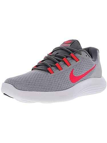6badf49733c359 Nike Womens WMNS Lunar Converge Wolf Grey Solar RED Grey Black Size 5.5