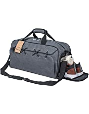 Fomatrade Sports Gym Bag with Shoes Compartment &Badminton Racket Bag,Waterproof Travel Duffel Bag for Men and Women