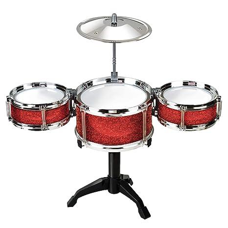Amazon Com Desktop Drum Set Red Toys Games