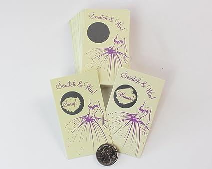 bridal shower wedding shower my scratch offs 25 game cards ticket wedding dress cream