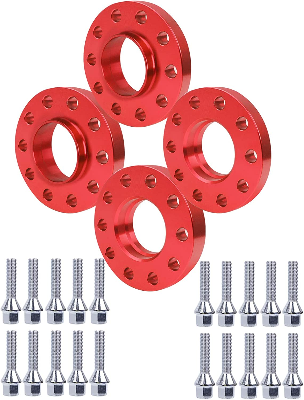 2x0,8 15 mm Entretoise de roue avec moyeu 5x120 d/épaisseur 20 mm centre du moyeu 72,56 mm 2x 0,6 paquet de 4