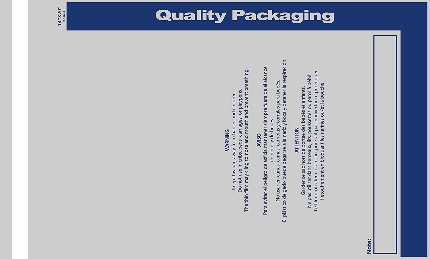 Amazon.com: 1000 Pack - Peel & Self Seal 2.5 Mil Clear Poly Bags with Suffocation Warning Labels, Permanent Adhesive & Premium Durability, ...