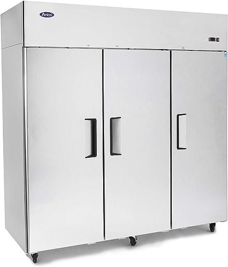 ATOSA MBF8003 Commercial Freezer 3 Door Top Mount Energy Star