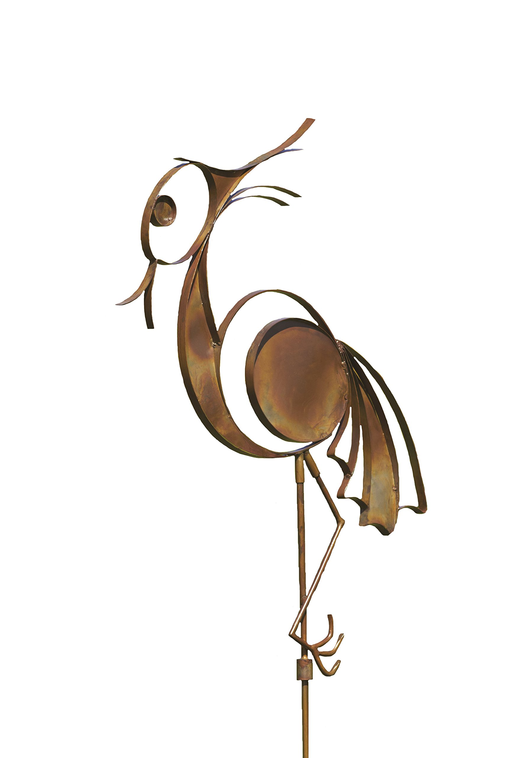 Ancient Graffiti Flamed Wading Bird Garden Stake, 32 by 52-Inch by Ancient Graffiti