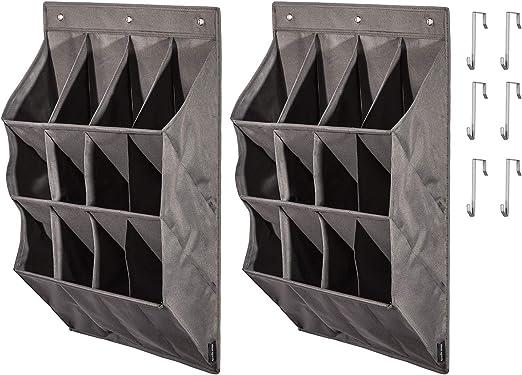 20 de bolsillo pesa sobre la Puerta Zapato Organizador Almacenamiento Rack ordenado espacio Saver 10 Par