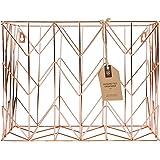 U Brands Hanging File Desk Organizer, Wire Metal, Copper