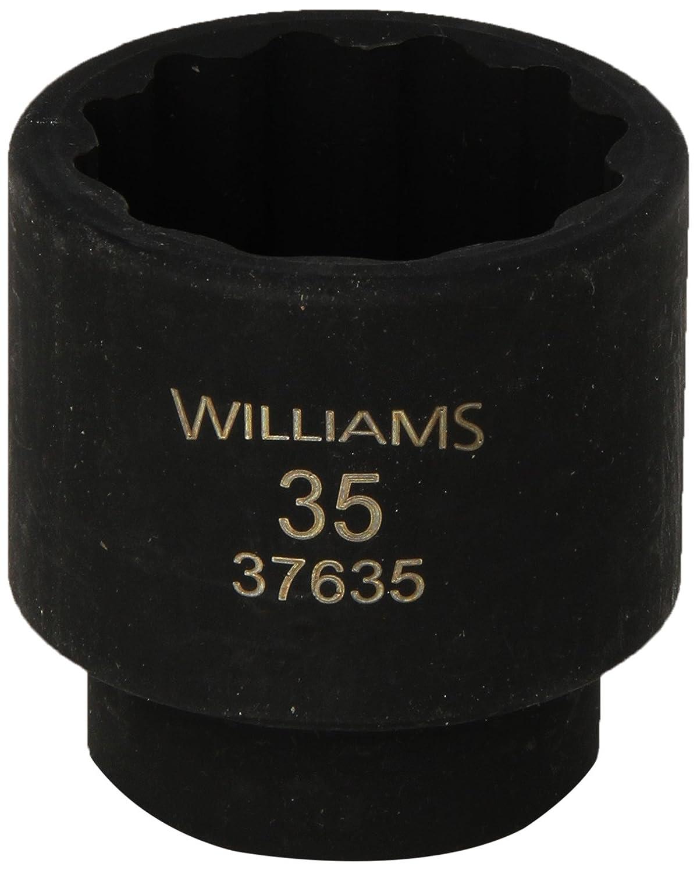 Williams 37635 1 /2インチドライブ35 mm標準インパクトソケット、ポイント12 B00HQDUM84