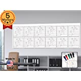 "Large Oversized Yearly Wall Calendar - 36"" x 96"" - Dry Erase Blank Reusable Annual Planner - Academic Year Office Project Schedule 12 Month Calendar Poster - Laminated Monthly Jumbo Undated 2017-2018"