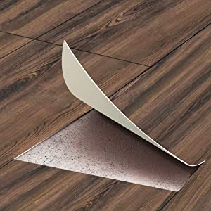 """funlife Self-Adhesive Vinyl Floor Wall Sticker Peel and Stick Non-Slip Flooring Plank Removable Water-Proof Backsplash Tile Decal for Home Bathroom Living Room Decor 7.87""""X118.1"""" 1Pcs 6.4sq.ft"""
