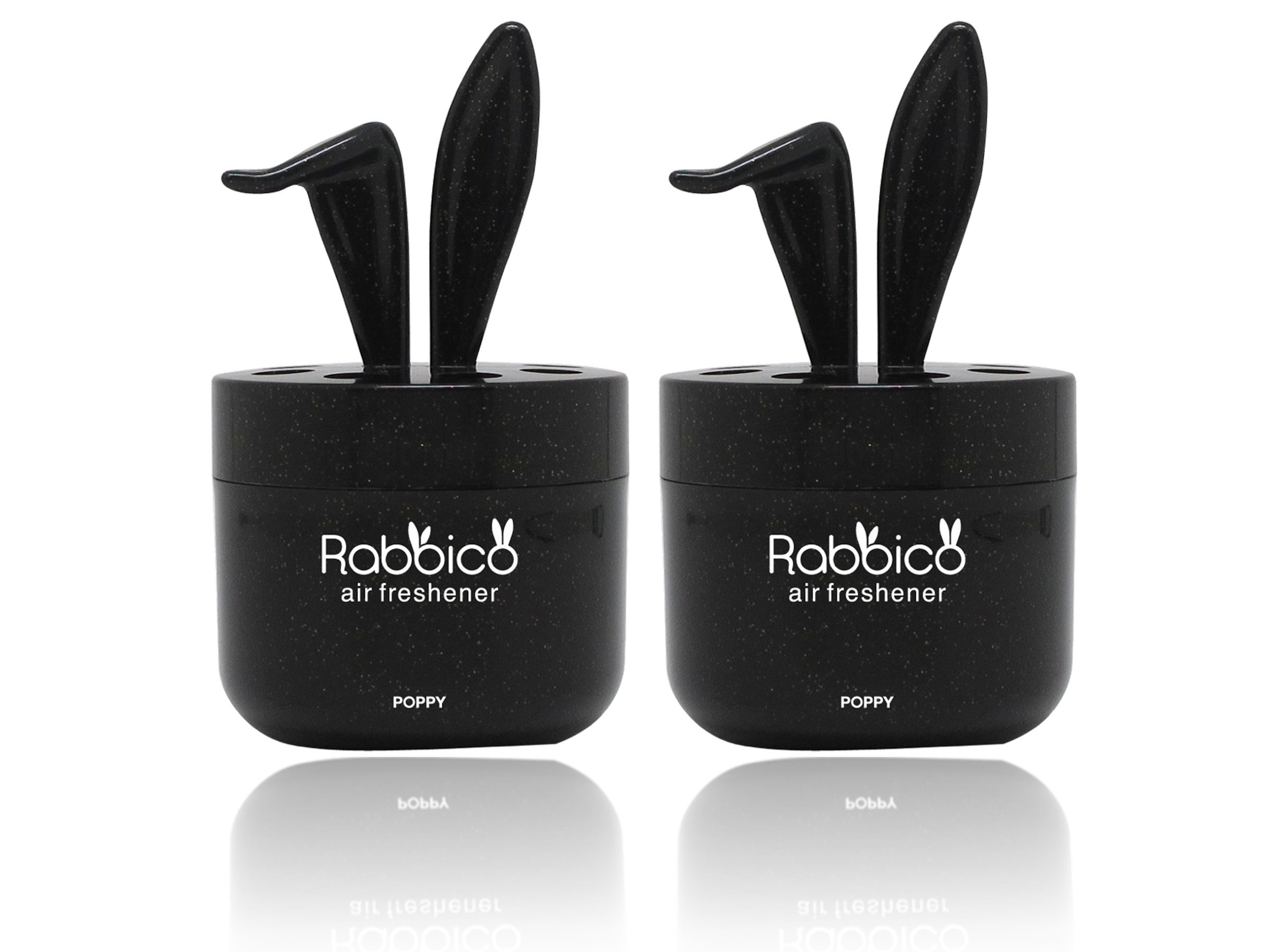 High Premium Quality (Best Deal) RABBICO SWEET 2 Packs (Rabbit lovely ears shape) Car, Home, Office Air Freshener Premium Rich Scent - Fresh clear scent of floral marine fragrance by YirehStore Air Freshener
