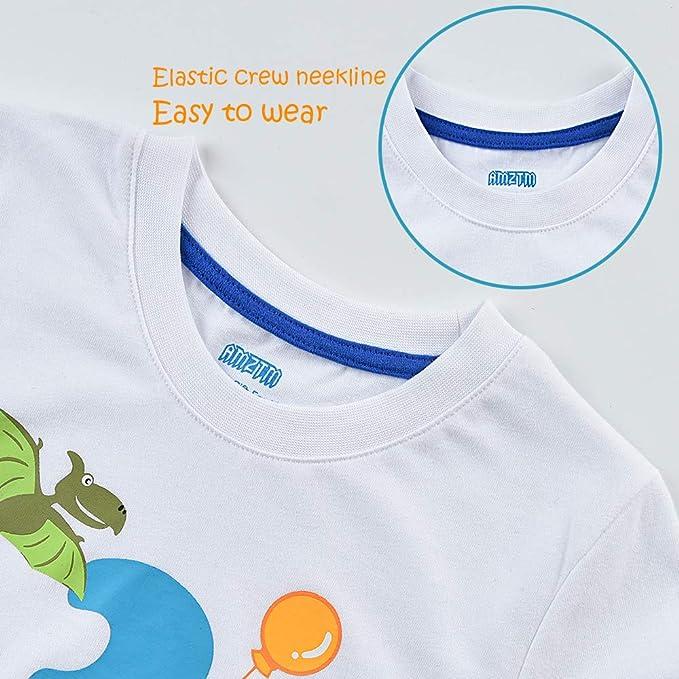 4 Jahre Boy Shirt Baustelle AMZTM Kinder Bagger T-Shirt 4 Geburtstag Jungen