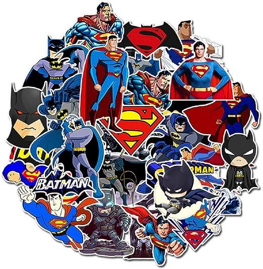 SetProducts Top Pegatinas! Juego de 45 Pequeñas Pegatinas de Batman y Superman: Amazon.es: Electrónica