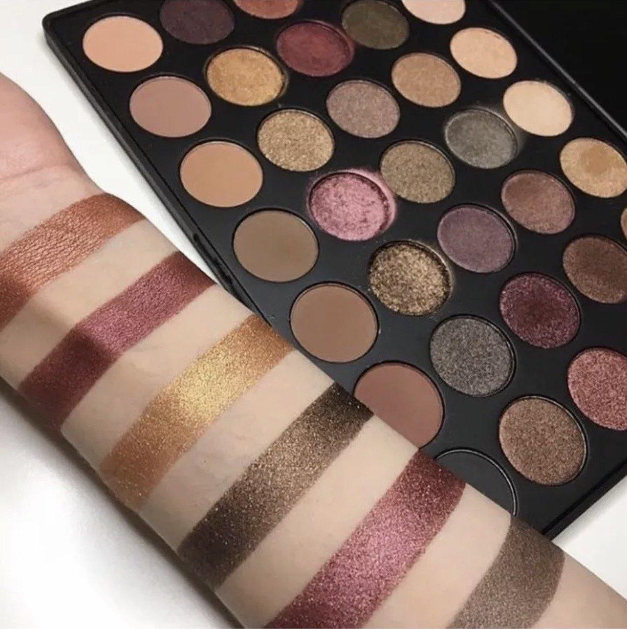 Paleta de sombras para ojos de colores de alto pigmentado: Amazon.es: Belleza