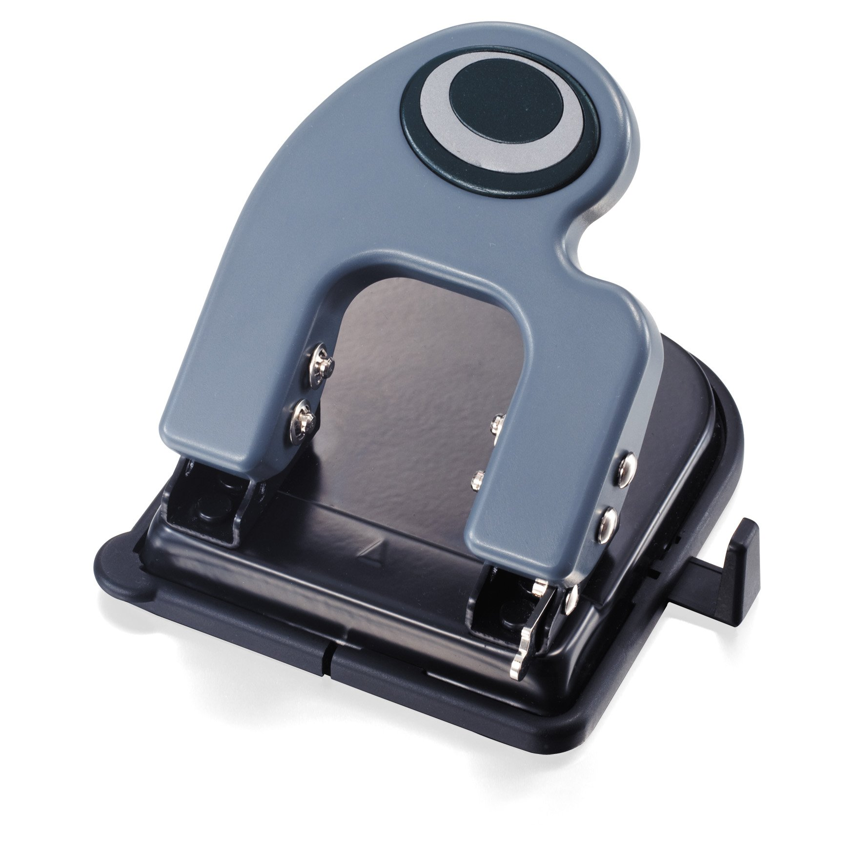 Officemate Contemporary 2-Hole Eco-Punch, 25 Sheet Capacity, Recycled, Antimicrobial, Black/Gray/Green (90134)