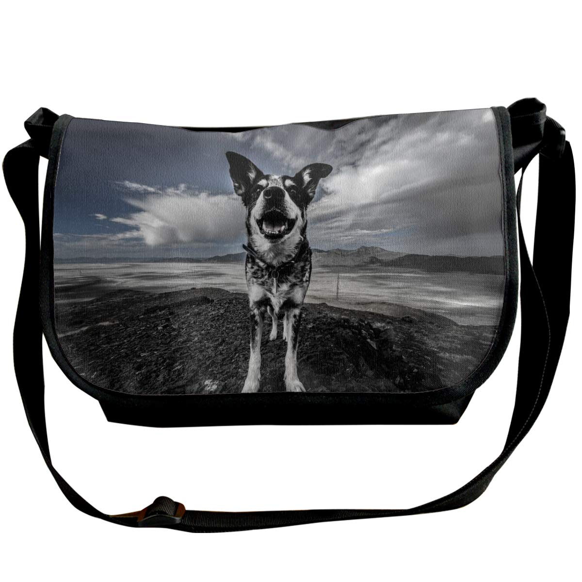 Taslilye Dog Spotted Mountains Customized Wide Crossbody Shoulder Bag For Men And Women For Daily Work Or Travel
