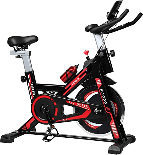 TODO Exercise Bike Stationary Indoor Cardio Training Cycling Bike with LCD Monitor …