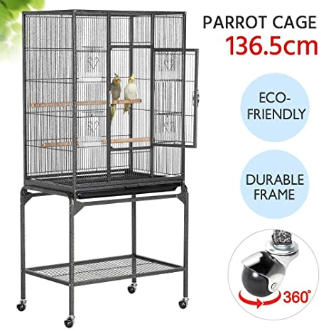 Popamazing - Jaula de Metal para pájaros con Soporte Desmontable ...
