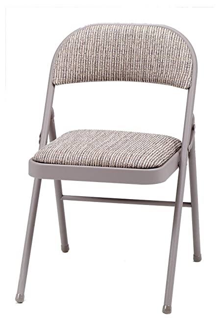 Amazon Com Meco 4 Pack Deluxe Fabric Padded Folding Chair Chicory Lace Frame And Motif Fabric Seat And Back Kitchen Dining