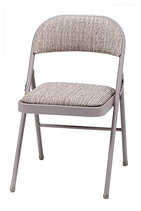Admirable Meco 4 Pack Deluxe Fabric Padded Folding Chair Chicory Lace Frame And Motif Fabric Seat And Back Pdpeps Interior Chair Design Pdpepsorg